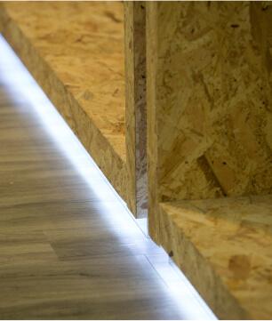 detalhe de luz em mobiliario de luxo