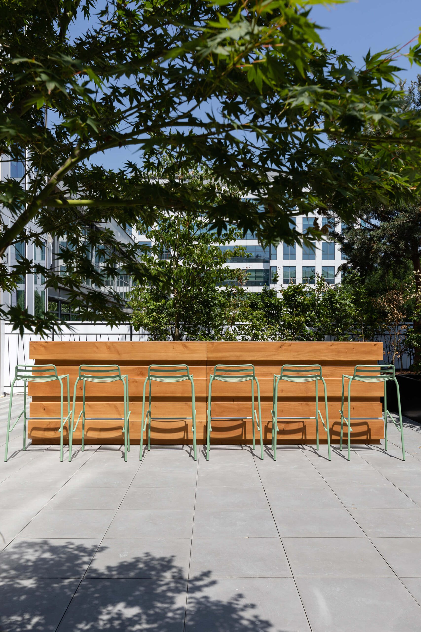 projeto de carpintaria de bar exterior