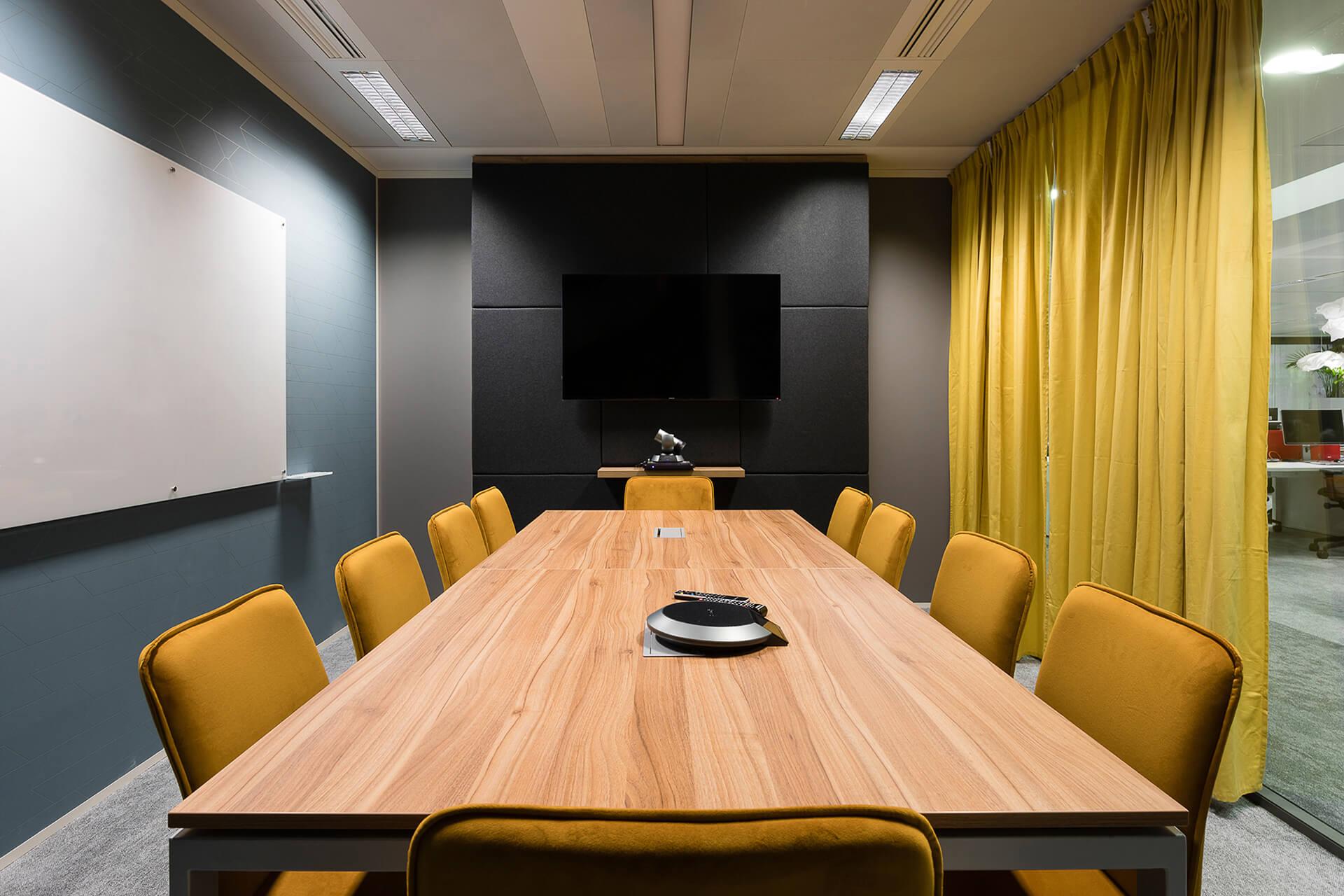 design de interiores em sala de reunião