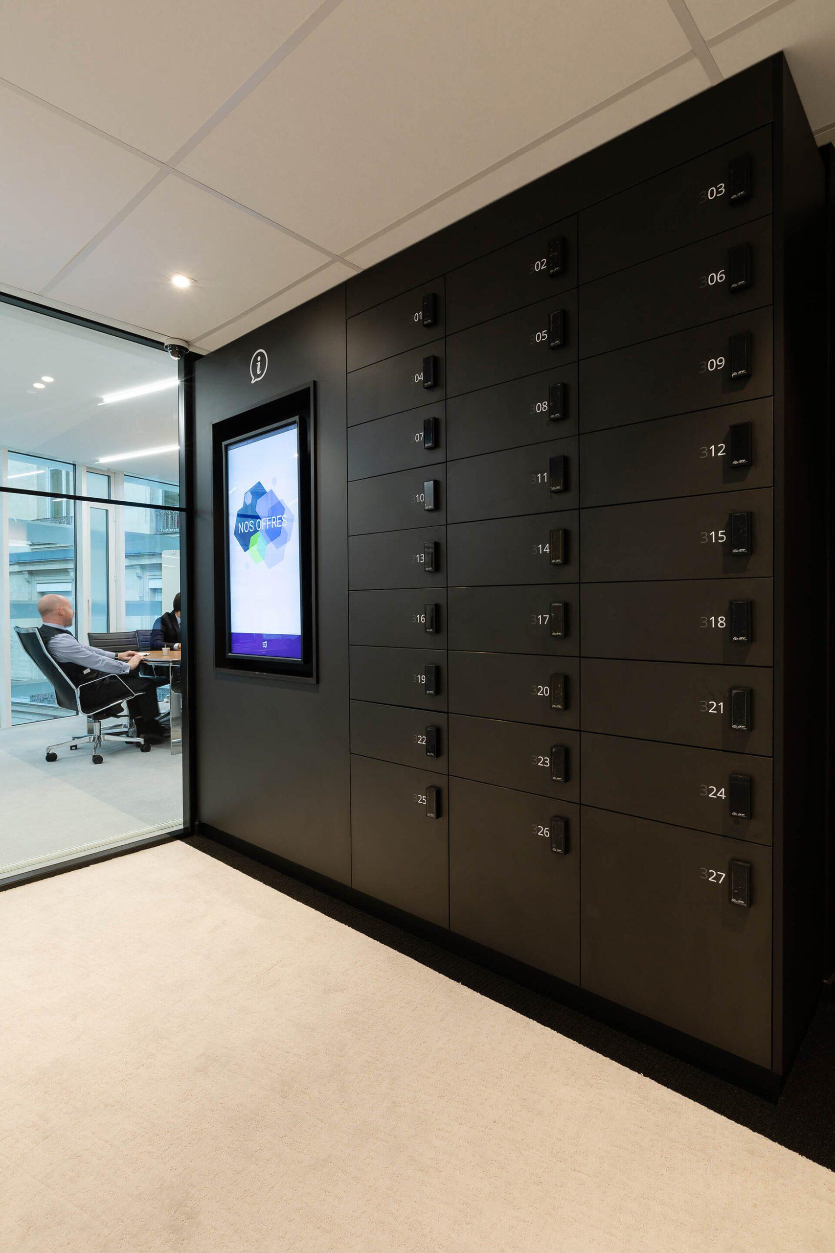 espaços de arrumação e tela de escritório de consultoria e negócios