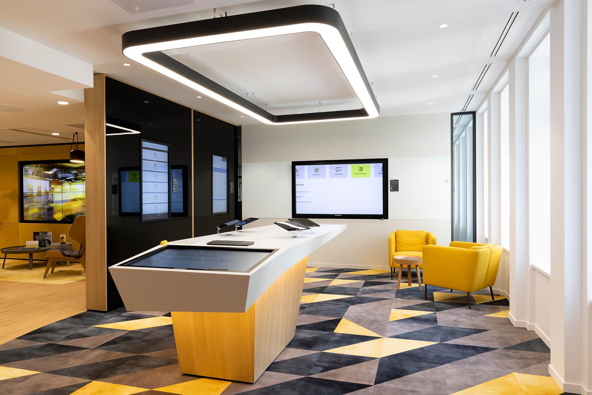 projeto krion para espaço de reuniões