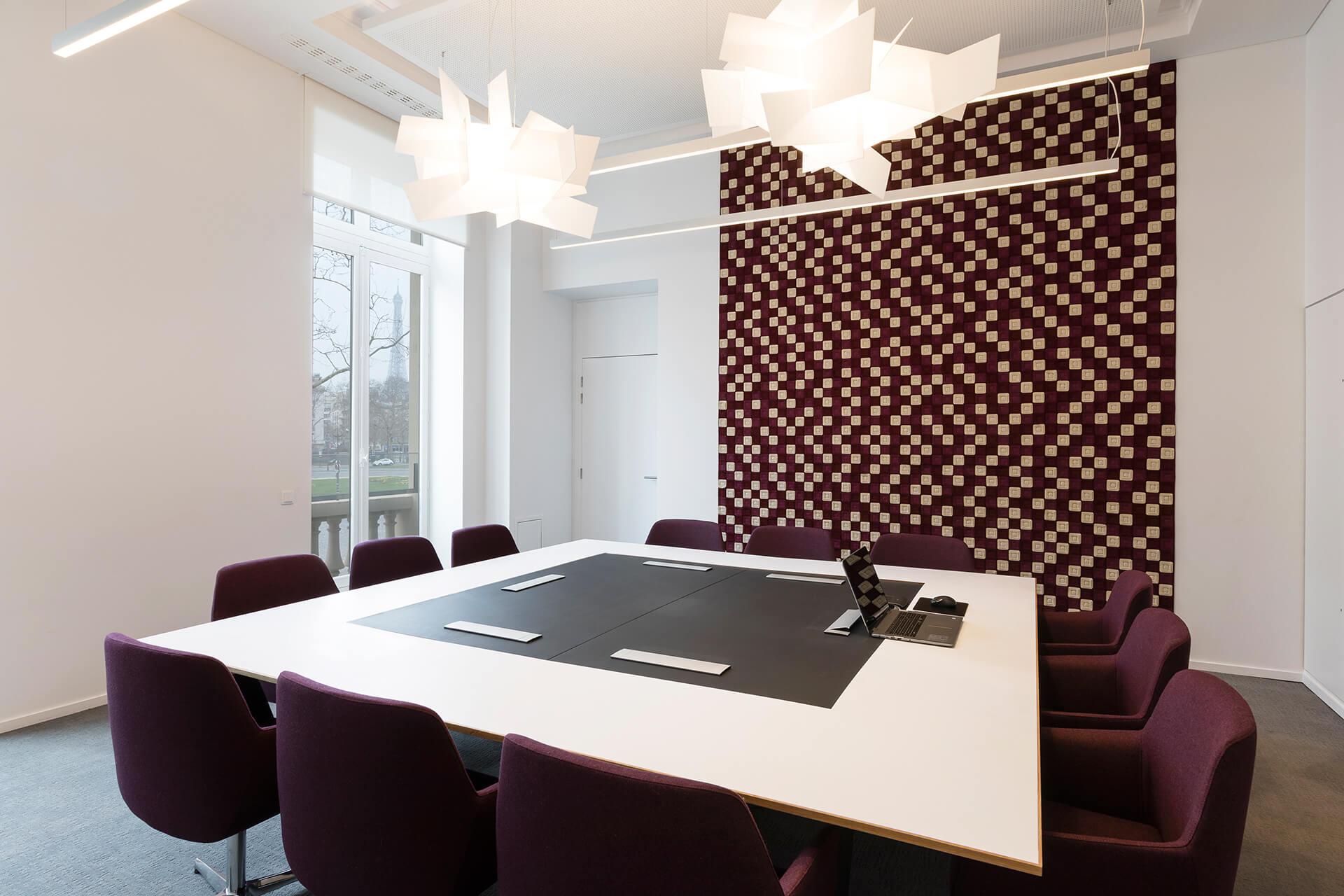 espaço de reuniões inovador - projeto krion