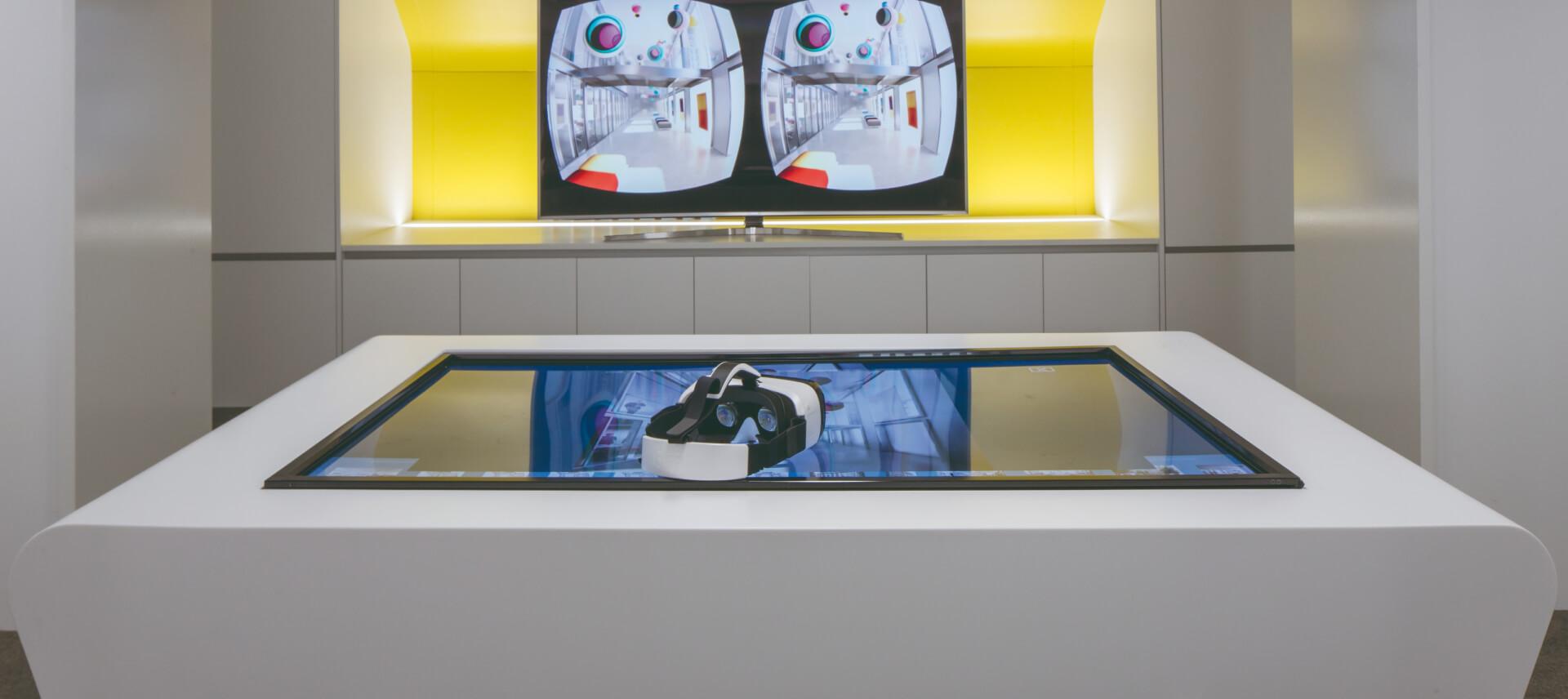 espaço tecnologico com oculos vr